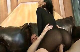 Asian In Pantyhose Sucks Fucks xxx tube video