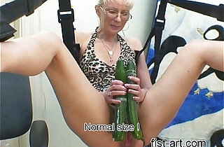 Marcella with cucumber xxx tube video
