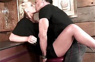 Busty Blonde Hooks Up With The Hunk Bartender xxx tube video