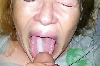 real son feeds his mom cum and she eats every drop xxx tube video