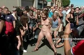 Group of sluts undressed in public sex xxx tube video