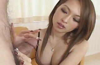 Hot Japanese babe gives tit job follwed by cumshot Uncensored xxx tube video