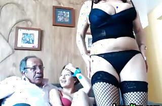 Cute Old And Young Threesome xxx tube video