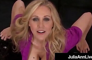 Smoking hot mommy julia ann gives a pov blowjob and footjob xxx tube video