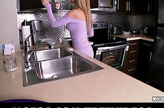 Stunning blonde wife strips in the kitchen and rubs herself to orgasm xxx tube video