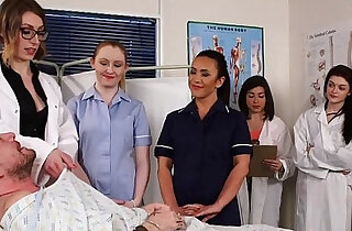 CFNM nurses cocksucking patient in group xxx tube video