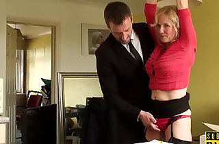BDSM milf brit instructed to ride by maledom xxx tube video