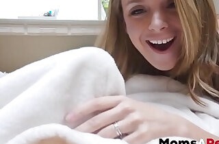 MomsAperv hot stepmom sleeps in sons room and gives great POV blowjob xxx tube video