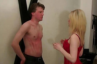 Young Femdom Mistress dominate man in BDSM Studio xxx tube video