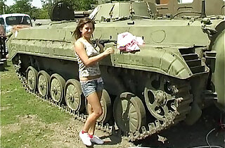 Busty teen Alexa toy twat in tank xxx tube video
