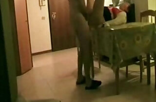 Hidden cam. Fucking aunt on the table xxx tube video