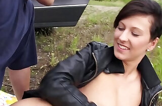 Dirty babe Emylia Argan is happy when fake agent fuck her tight pussy in public xxx tube video
