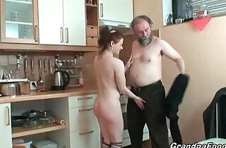 Hot redhead rides a big cock in kitchen xxx tube video