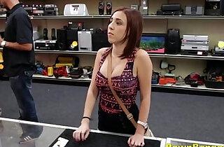 Busty Teen amateur Slut Fucks Shop Owner To Cut A Deal xxx porn