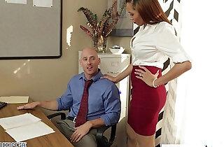 Stockinged babe Serena Ali fuck in the office xxx tube video