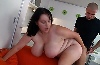 Huge bitch is banged at the kitchen xxx tube video