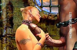 Horny 3D hentai bitch suck huge penis xxx tube video