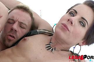 Sexy blonde slut Sasha Zima double anal training first DAP xxx tube video