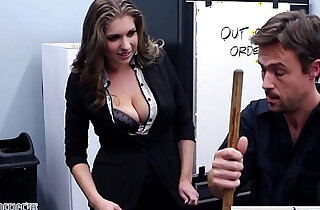 Stockinged cutie Alex Chance nailed in the office xxx tube video