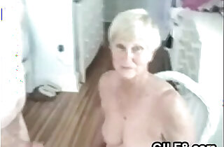 Naughty Granny Gives Her Man A Blowjob xxx tube video