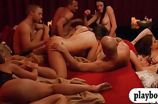 Bunch of newly couples enjoyed swinging and erotic orgy xxx tube video