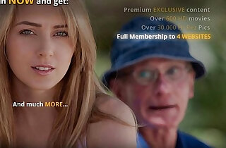 Oldman is lured and fucked by horny and young blonde xxx tube video
