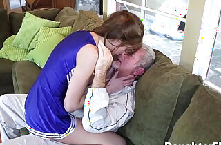 Older Guy Pounds Sexy Stepdaughter xxx tube video