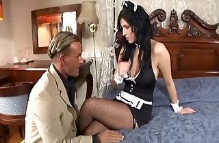 Maid fucking in her uniform and fishnet stockings xxx tube video