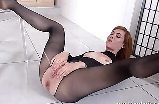 WTF hot redhead showers in her own pee xxx tube video