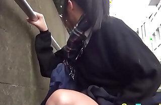 Japanese student rubbing xxx tube video