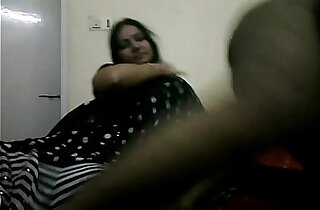 tamil bhabhi in black indian saree giving her hubby a blowjob on live show xxx tube video