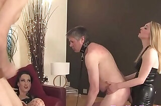 BDSM mistresses humiliate subject in group xxx tube video