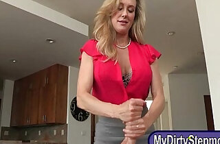 Stepmom Brandi Love horny threesome sex on massage table xxx tube video