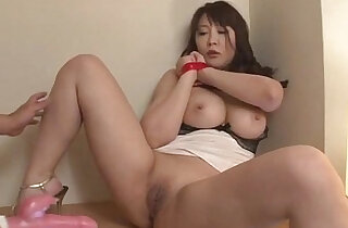 Busty amateur blonde milf Hinata Komine gets toys up her tight holes xxx tube video