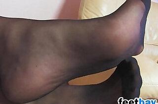 Blondes Babes Nylon Feet Close Up xxx tube video