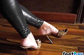 Teasing Her Feet In Exotic High Heels xxx tube video