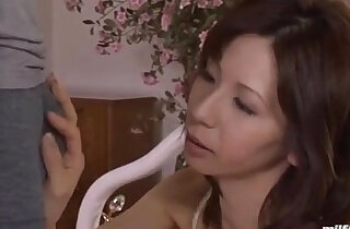 Milf In Lingerie Giving Blowjob For Young Guy Cum To Mouth On The Bed xxx tube video