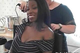 Ebony with huge boobs gets xxx tube video