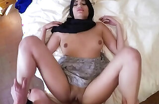 Teen Arab ex gf takes big cock doggy style for sex xxx tube video