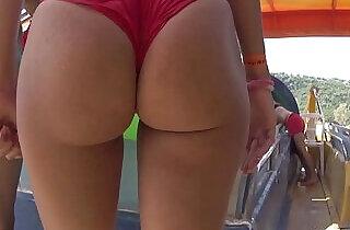 Bikini Thong Latina Big Ass Close Ups Beach Voyeur xxx tube video