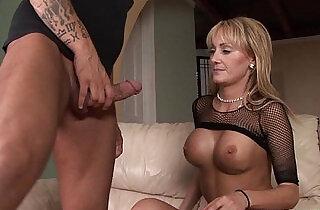 busty amateur blonde amateur milf gives bj before riding huge black cock xxx tube video
