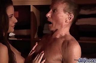 Teen getting Fucked Old man cock seduced him swallowed his juicy cum hardcore xxx tube video