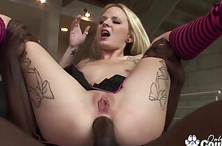 Blonde Has Her Ass Filled With Black Cock xxx tube video