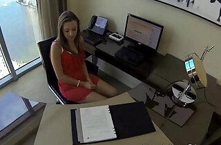 Lunch break big cock secretary Lia Ezra fuck porn xxx tube video