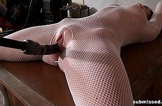 bound ballgagged and dildoed babe xxx tube video