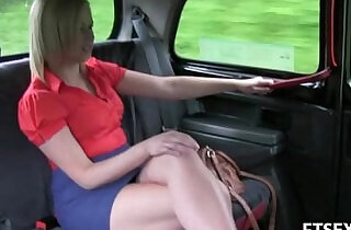 Blonde lesbian babe in stockings gets fisted in the taxi xxx tube video