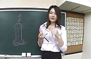 Subtitled Japanese Akira Watase classroom blowjob lecture xxx tube video