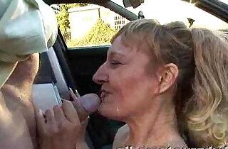 Public Deepthroat Milf Does Guys in Car Park Amateur Reality xxx tube video