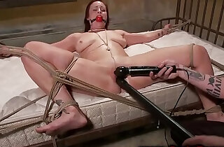Redheads pussy controlled by master whille tied to the bed xxx tube video