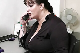 Busty bitch gets her pussy slammed at workplace xxx tube video
